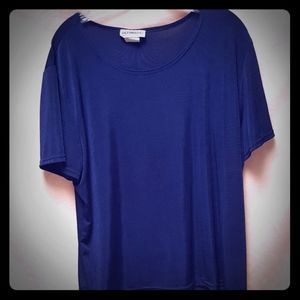 Ultimate! Blues slinky blue t-shirt style top